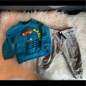 Other - Dinosaur Jogger Sweatshirt Set | 12-18 Month